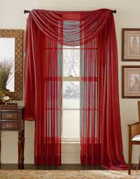 Grey Red Curtains Sheer Voile Elegance Curtain U0026 Scarf Panel U2013 Silver Grey