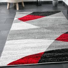 Wohnzimmer Schwarz Rot Moderner Designer Wohnzimmer Teppich Geometrisches Muster