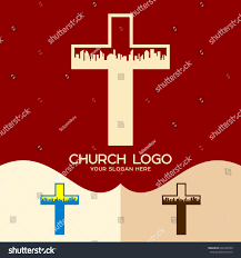church crosses church logo cristian symbols cross jesus stock vector 646169530