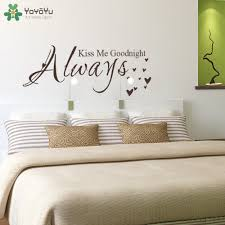 online get cheap master quotes aliexpress com alibaba group yoyoyu quote wall decal always kiss me goodnight master bedroom wall stickers headboard vinyl removable home