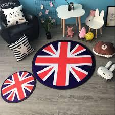 round british flag carpet non slip multi functional mat for
