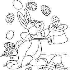 Coloriage lapin pâques en Ligne Gratuit à imprimer