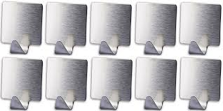 adhesive wall hooks chic 10 pack stainless steel hooks self adhesive decorative