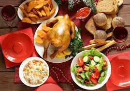christmas dinner table setting traditional food for christmas dinner festive table setting stock