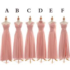 bridesmaid dresses pink bridesmaid dresses floor length bridesmaid dress mismatched