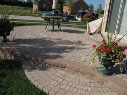 well groomed curved pavers home depot for innovative modern patio