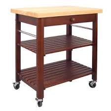 Kitchen Carts Home Depot by Home Styles Natural Kitchen Cart With Stainless Top 5217 95 The