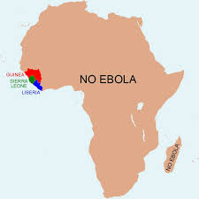 west africa map ebola map the africa without ebola the washington post