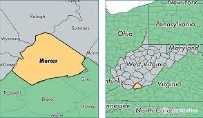 mercer map mercer county virginia map of mercer county wv where is