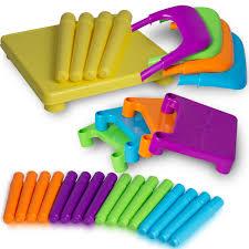 amazon com oxgord pltc 01 kids plastic table and chairs set 4