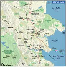 San Francisco Transportation Map by Map Of Marin U0026 Directions Maps U0026 Transportation Marin County