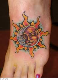 new moon u0026 sun tattoos designs for women collection 2012 13