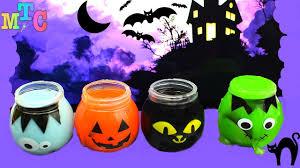 clay slime surprise halloween pumpkin zombie cat u0026 frankenstein