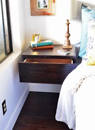 floating wall mounted night stand drawer minimalist hanging