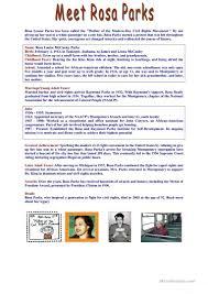 meet rosa parks worksheet free esl printable worksheets made by