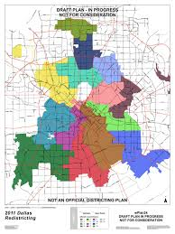 Dallas On Map by Dallas Redistricting 2011 Fourth Dallas City Council
