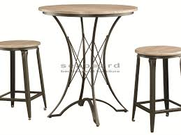 Bar Stool And Table Sets Coaster 100006 Reclaimed Industrial 3pc Pub Table Set
