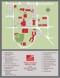 International Mall Map Campus Map Northern Oklahoma College