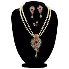 luxury pearl necklace images Luxury pearl sets 2 lines grand pearl necklace set in jpg