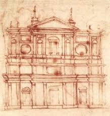 project for the façade of san lorenzo florence by michelangelo