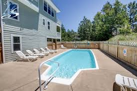 Beach House Backyard Jones Beach House Corolla Vacation Rentals Outer Banks Blue