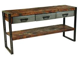 Rustic Sofa Table by Wood And Metal Sofa Table Alleycatthemes Com