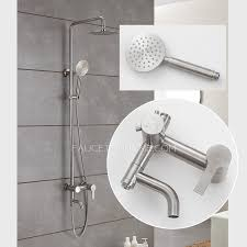 Quality Faucets Quality Stainless Steel Brushed Nickel Outdoor Shower Faucets