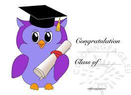 graduation owl kindergarten graduation owl coloring page