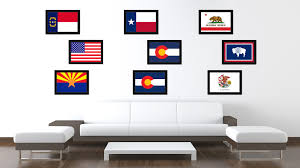 colorado state flag home decor office wall art livingroom interior colorado state flag canvas print with custom black picture frame home decor wall art decoration gifts
