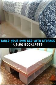 Full Platform Storage Bed Bookcase Full Platform Bed With Bookcase Headboard Twin Size