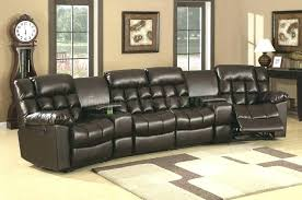 Curved Sectional Recliner Sofas Curved Reclining Sofa Sgmun Club