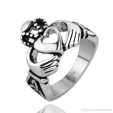 men jewelry stainless steel ring halloween gifts vintage black new