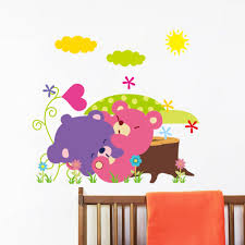 home decor 3d stickers aliexpress com buy cartoon animal forest wall stickers decals