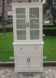 Antique White Bookcase With Doors Antique White Wooden Bookcase Filling Cabinet Set 2 Drawer 4 Door