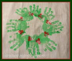 a handmade christmas handprint christmas wreath money saving mom