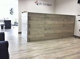 Home Design Reclaimed Wood Reception Desk Tropical Expansive