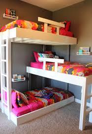 Three Bed Bunk Bed Bunk Beds With Plans Kara Kae