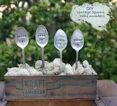 Vintage Table Number Holders Diy Vintage Spoons For Your Wedding Green Wedding Shoes