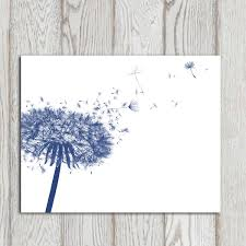 Navy Bedroom Dandelion Decor Print Navy Blue Home Decor Navy Bedroom Decor