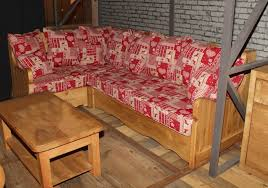 canapé style chalet salon d angle style montagne alaska tissu aux choix