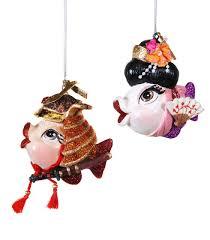 fish ornament samurai warrior kabuki katherine s