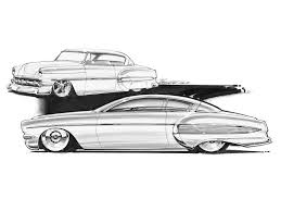 classic cars drawings 1950 u0027s shoebox concept drawings rod network