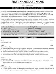 Sample Resume For Computer Engineer by Manager Resume Sample U0026 Template