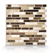 Smart Tiles Pack  X  Bellagio Bello PeelandStick Vinyl - Lowes peel and stick backsplash