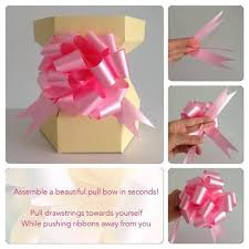 pull bow ribbon pull bows www cupcakebouquetbox co uk