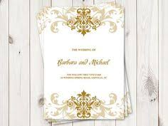 christmas wedding programs christmas wedding program template snowflakes gold printable