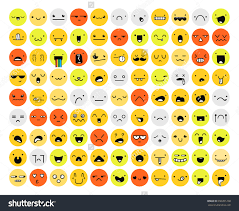great set color emotion isolated on white emoji for web anger save