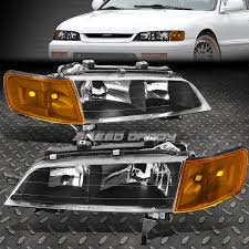 97 honda accord lights black clear headlight corner led fog light for 94 97 honda