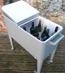 coffee table with cooler grilltech outdoor drinks cooler internet gardener