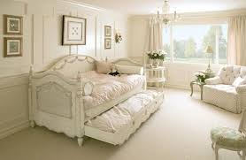 shabby chic bedding green wall painting beige ceramic floor tile